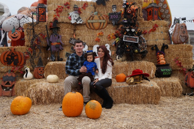 Picture perfect at the pumpkin patch.
